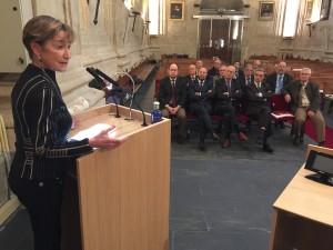 Victoria Ortega, ante el Consejo de Castilla y León el viernes, 8 de enero, en Salamanca