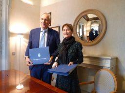 Carmelo Angulo, pte UNICEF España, y Victoria Ortega (2)
