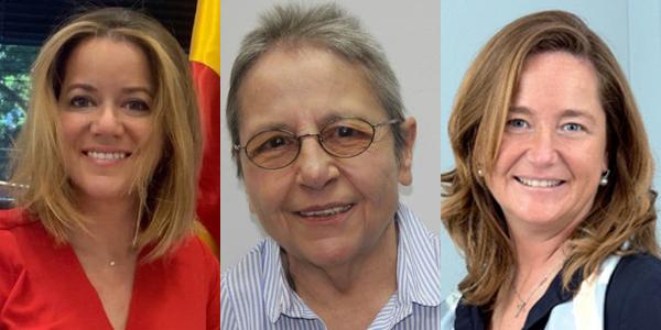 Natalia Velilla Antolín, Josefa García Lorente y Almudena Castro-Girona